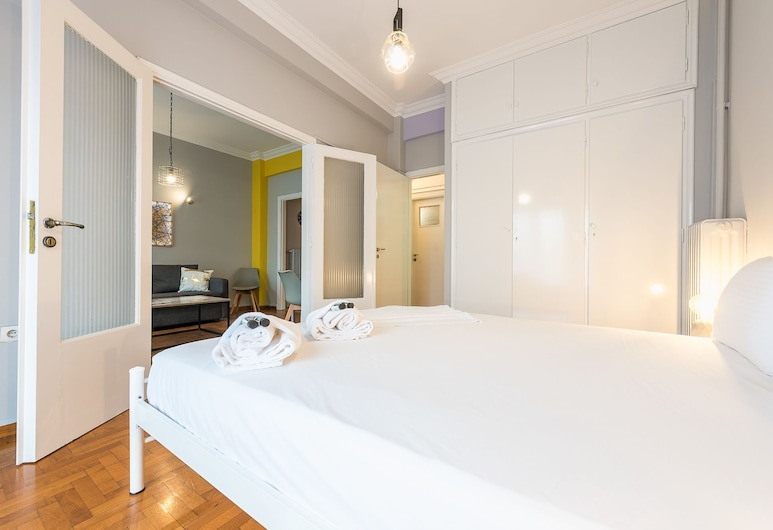 Athens Boutique Apartment  by Cloudkeys, Atenas, Apartamento urbano, Quarto