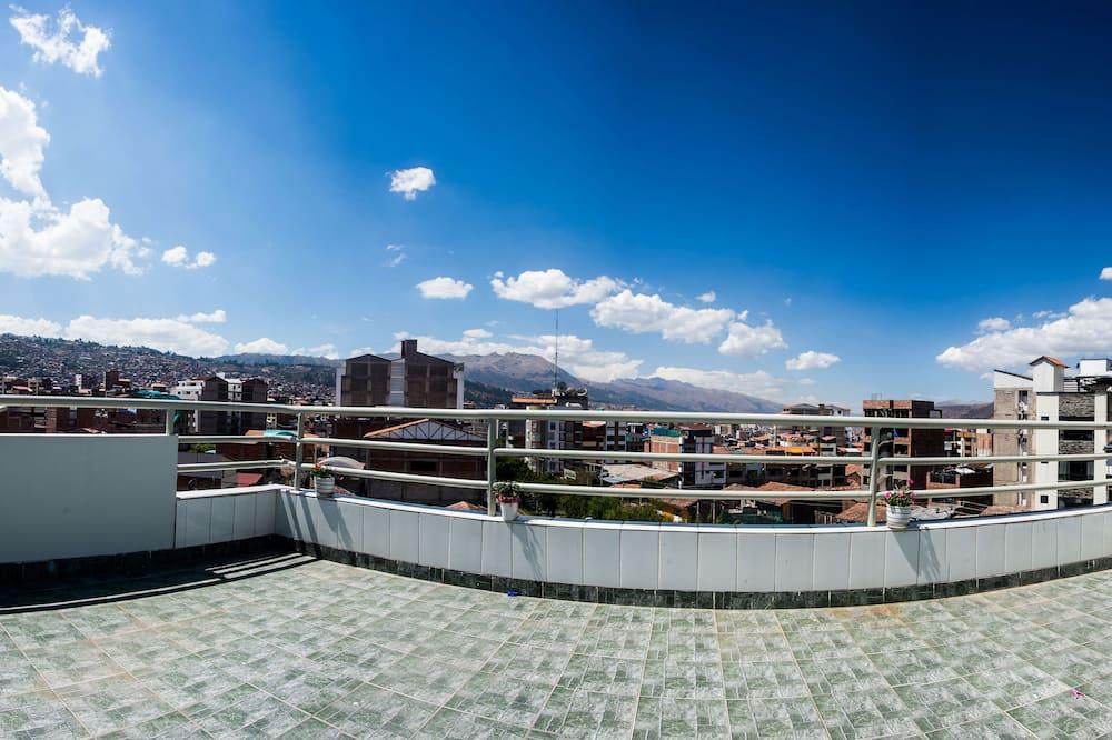 Familie appartement, 3 slaapkamers, Uitzicht op de stad - Terras