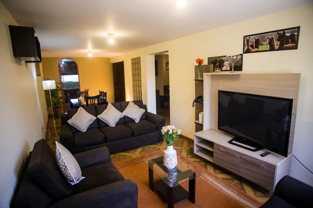 Familie appartement, 3 slaapkamers, Uitzicht op de stad - Woonruimte