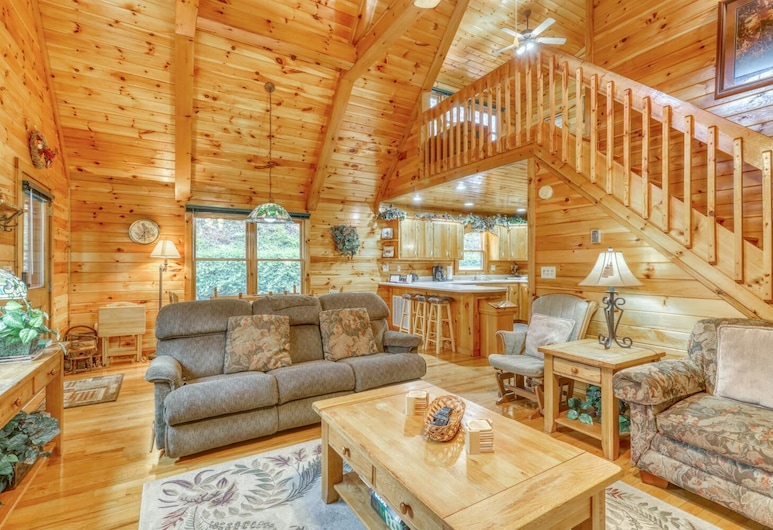 Lucilles Creekside Hideaway, Blue Ridge, Living Room