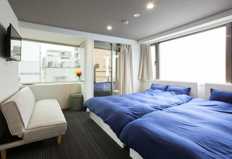 OYO 44824 Hotel Cocoro Inn Asakusa Kuramae, טוקיו, חדר, ללא עישון (Quintuple), חדר אורחים