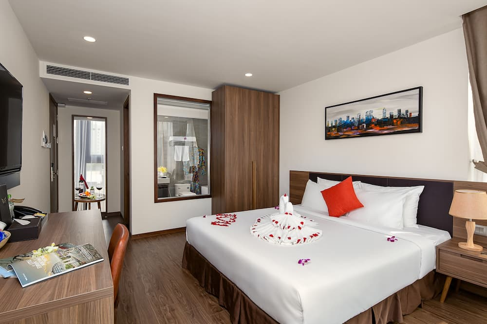 Executive-Doppelzimmer, 1King-Bett - Wohnbereich