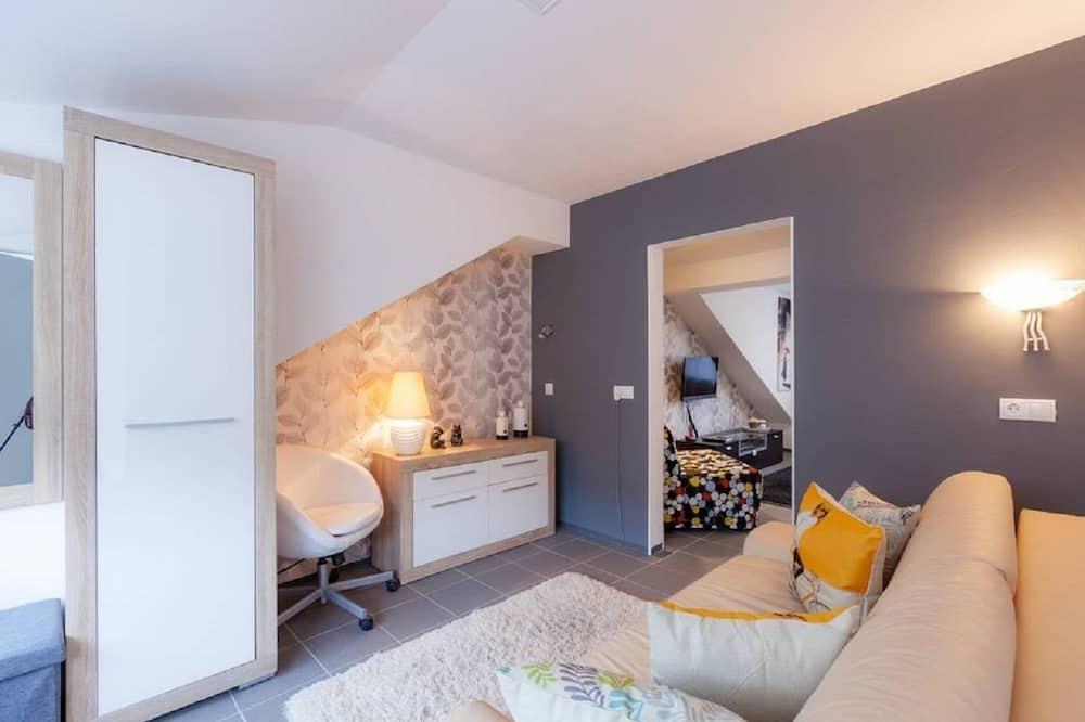浪漫公寓, 2 間臥室, 花園景觀 - 客廳
