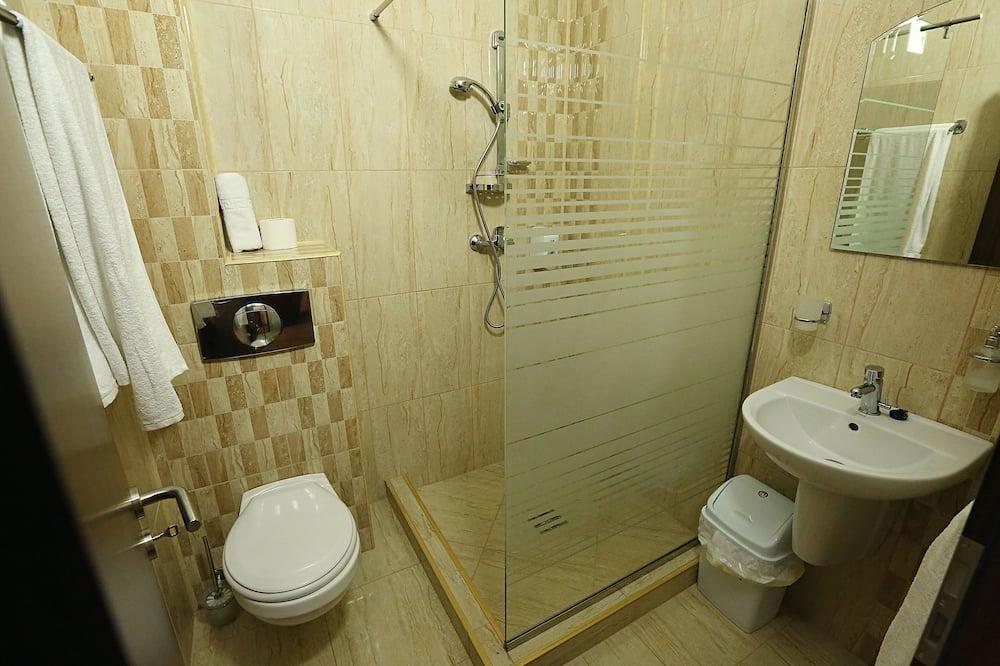 Dvivietis kambarys su pagrindiniais patogumais, 1 didelė dvigulė lova - Vonios kambarys