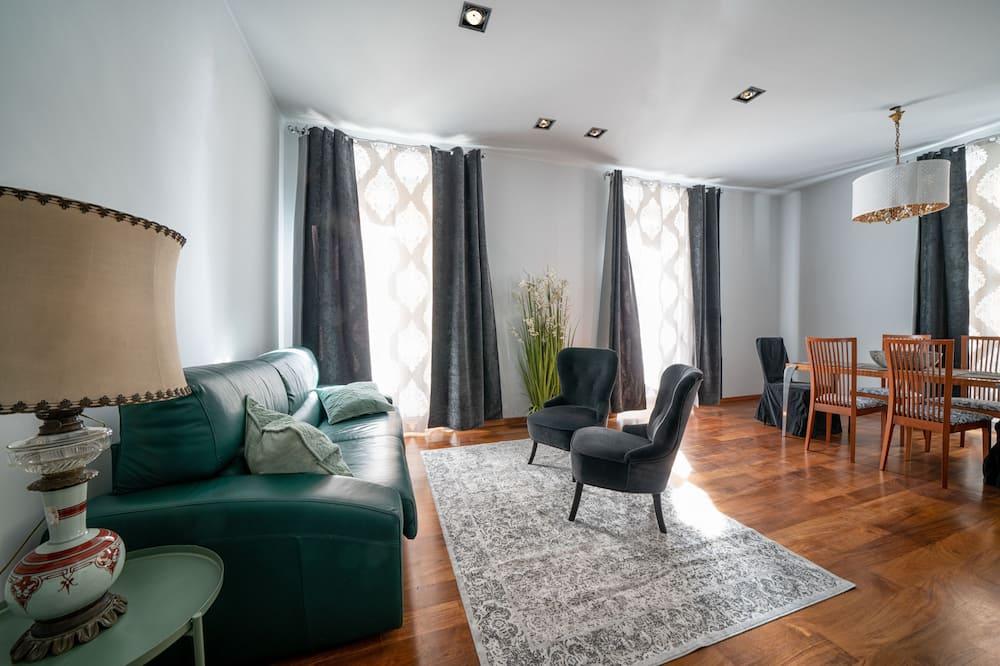 Apartmán, 1 veľké dvojlôžko s rozkladacou sedačkou - Obývacie priestory