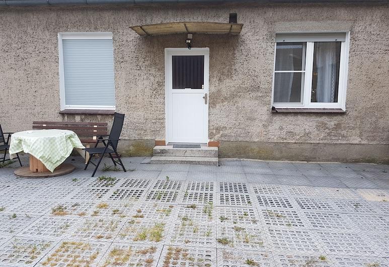 Ferienwohnung in Diehlo, Eisenhuettenstadt, Apartamento, 1 Quarto, Terraço, Terraço/Pátio Interior