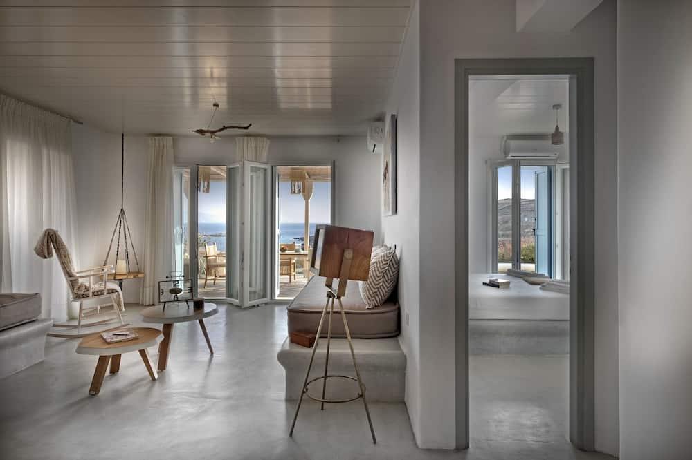 Вилла «люкс», вид на море (1) - Зона гостиной