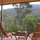 Design-hus - flere senge - udsigt over vingård - Udsigt fra altan