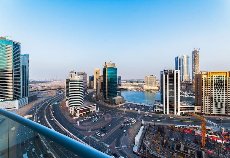 City Nights - 2B Burj Al Nujoom Tower, Dubai, Familjelägenhet - flera sängar - utsikt mot havsviken, Balkongutsikt