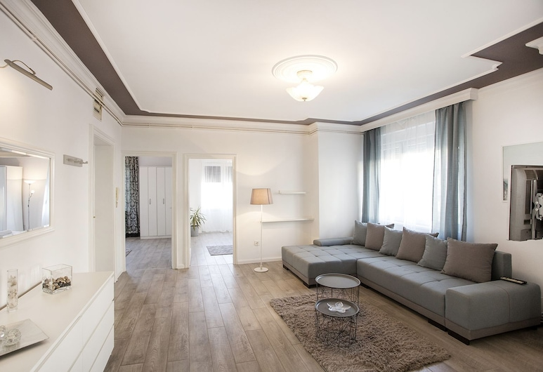 Central New Apartment, Belgrad, Apartment, Terrasse, Wohnbereich