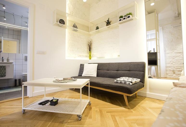 Atomic Apartment 01, Belgrad, Apartment, Terrasse, Wohnbereich