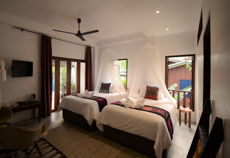 Moonlight Champa Riverview, לואנג פראבנג, חדר סטנדרט טווין, חדר אורחים