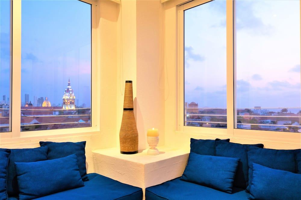 Loft de diseño, Varias camas, vistas a la ciudad (A) - Sala de estar
