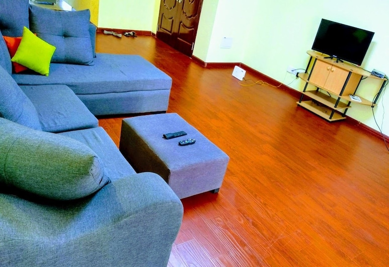 Lucy Serviced Apartment, Nairobi, Comfort Apartment, 2 Bedrooms, Living Room
