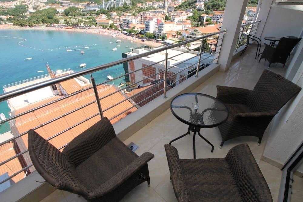 Comfort Penthouse, Berbilang Katil, Sea View - Balkoni