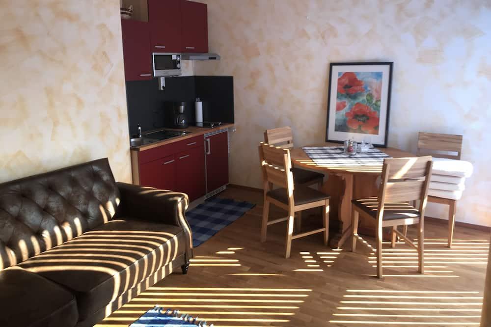 Appartement, 1 lit double et 1 canapé-lit (incl. end cleaning fee €35) - Restauration dans la chambre