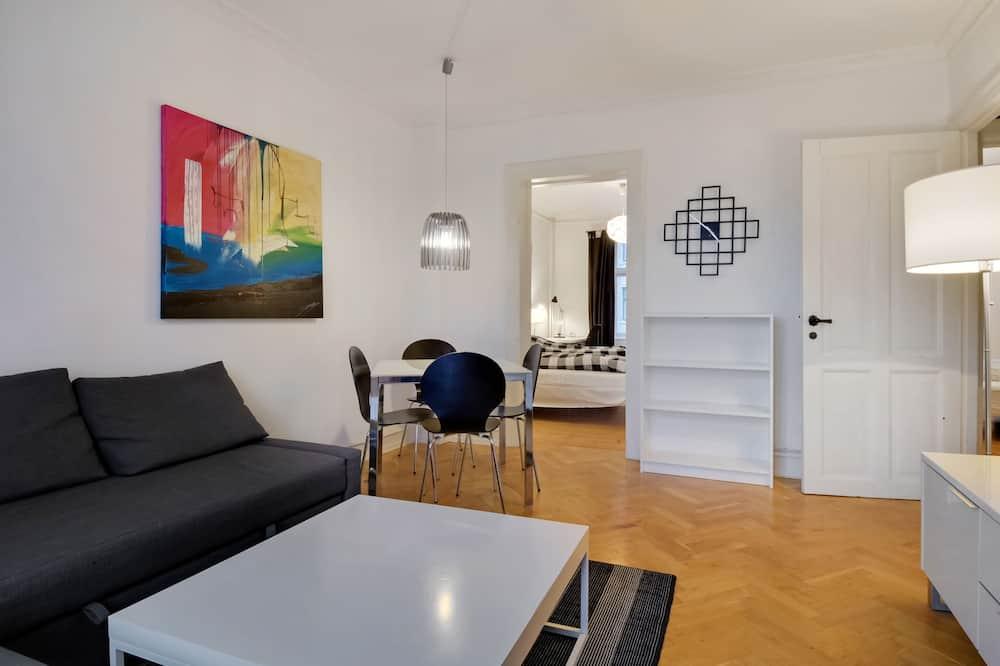 Апартаменты, 2 двуспальные кровати «Квин-сайз» - Гостиная