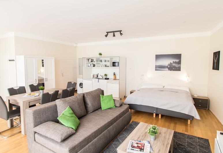 CheckVienna - Kaiserstraße, Viena, Apartamento conforto, Área de estar