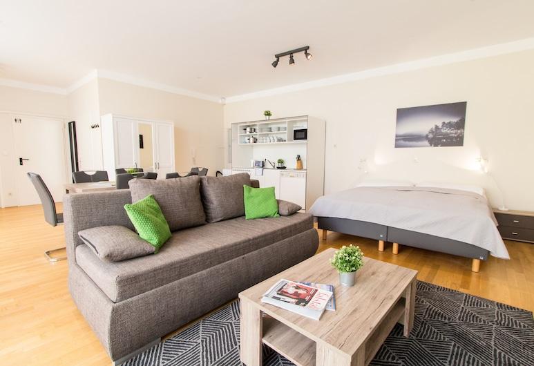CheckVienna - Kaiserstraße, Vienna, Comfort Apartment, Living Area