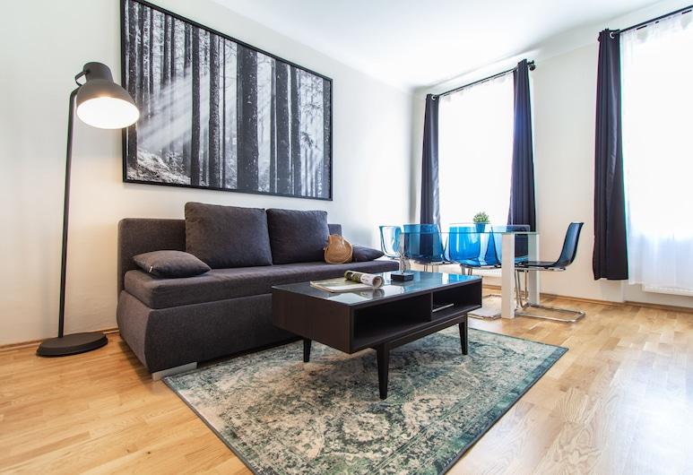 CheckVienna - Landgutgasse, Viena, Apartamento luxo, Área de estar