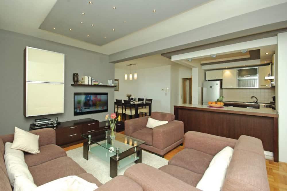 公寓, 露台, 海景 - 客廳