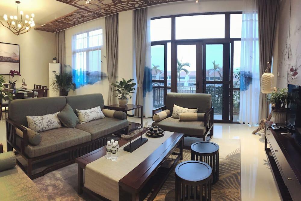 Vila, více ložnic - Obývací prostor