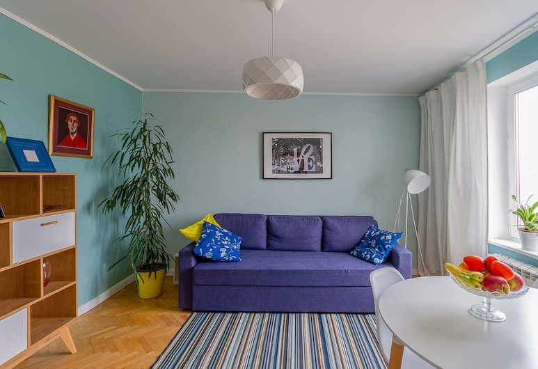 MuchMore Expo, Moscow, Comfort Apartment, 1 Double Bed with Sofa bed, City View, Living Room