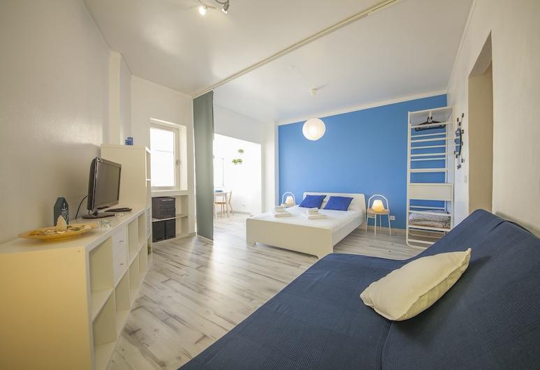 A25 - Studio Rocha Mar by DreamAlgarve, Portimao, Štúdio, balkón, čiastočný výhľad na oceán, Obývacie priestory