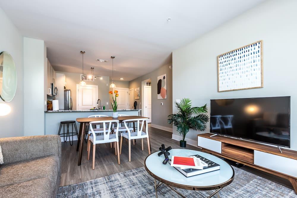 Signature appartement, 1 kingsize bed met slaapbank, niet-roken - Eetruimte in kamer