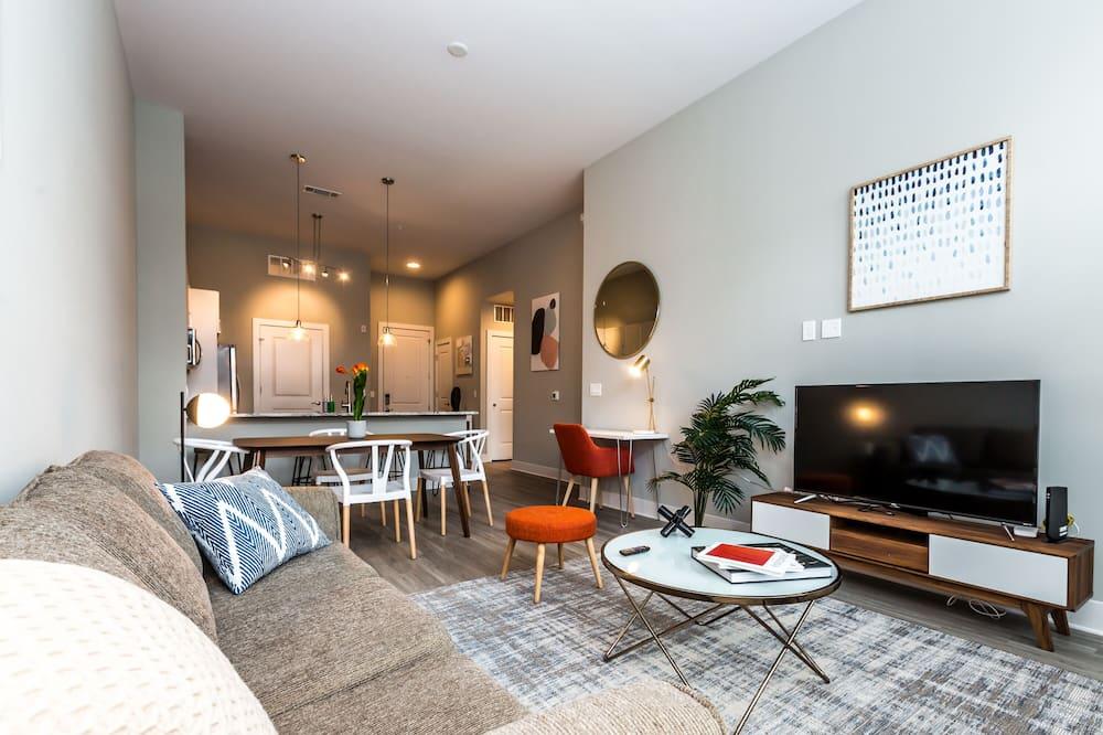 Comfort appartement, 1 kingsize bed met slaapbank, niet-roken - Woonruimte