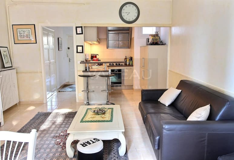 Vaneau Mirgalet, Cannes, Appartement, 1 grand lit (Vaneau Mirgalet), Salle de séjour