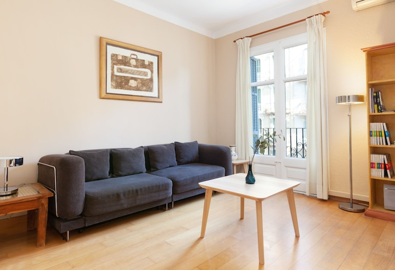 格拉納多斯安立奎巴恩公寓酒店, 巴塞隆拿, 都會公寓, 1 間臥室, 城市景, 客廳