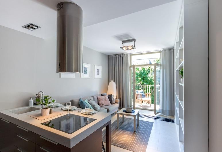 FriendHouse - Sobieski Residence, Krokuva, Išskirtinio tipo apartamentai, Svetainės zona
