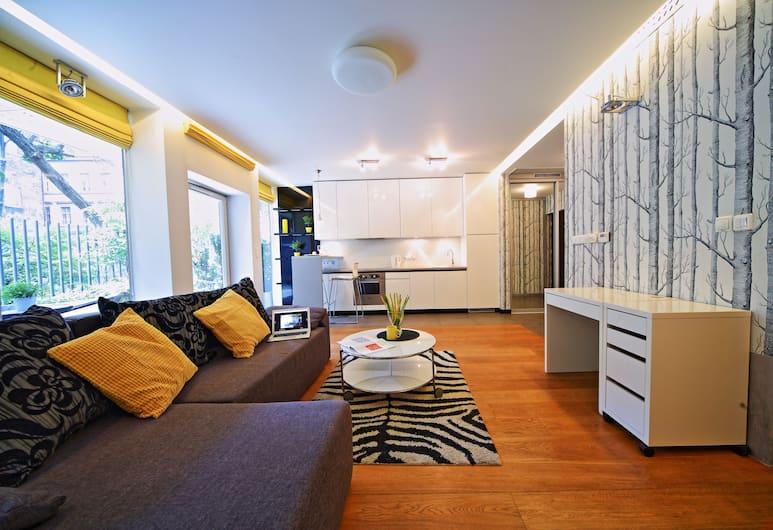 FriendHouse - Sobieski Residence, Kraków, Lägenhet Standard - 1 dubbelsäng, Vardagsrum