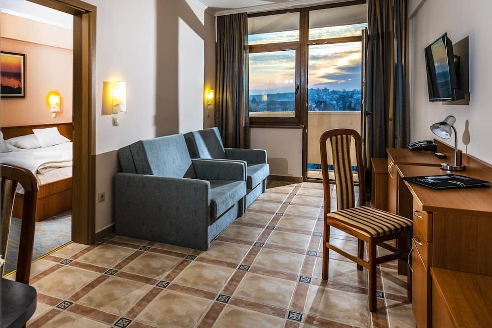 Lägenhet Classic - flera sängar - utsikt mot staden - Vardagsrum