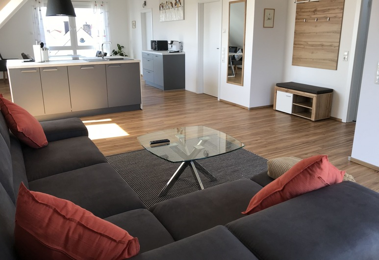 Ferienwohnungen Scheuring, Volkach, Departamento de diseño, Sala de estar