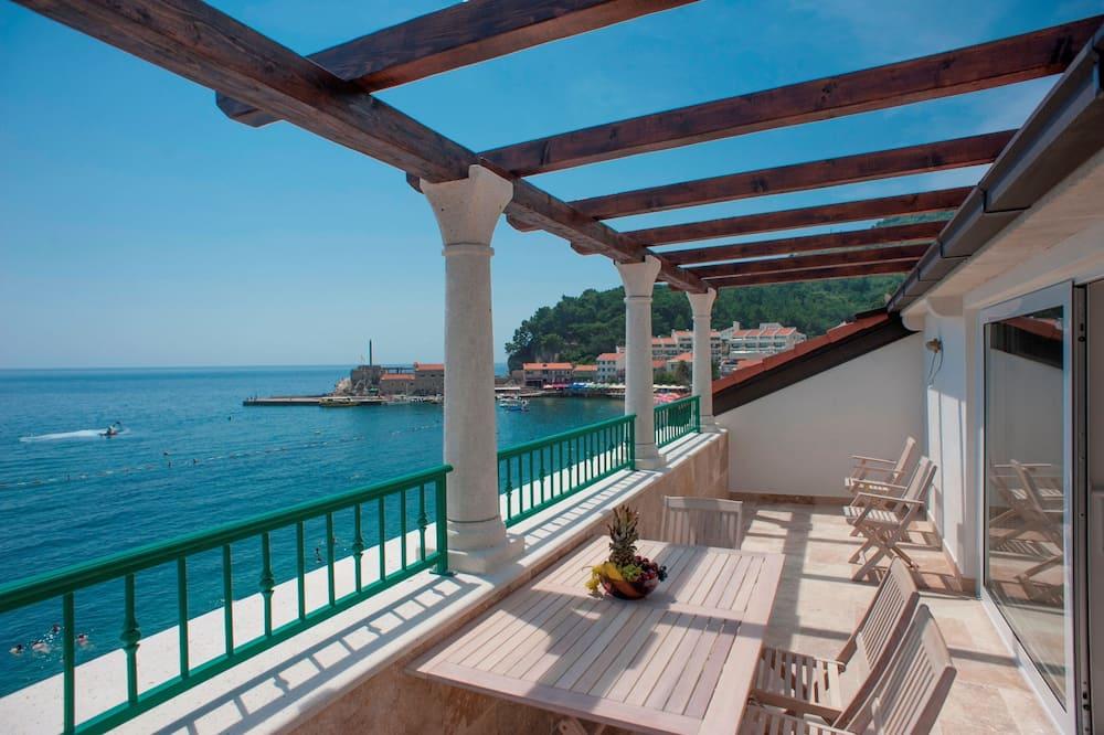 דירה דה-לוקס, מרפסת, נוף לים - תמונה