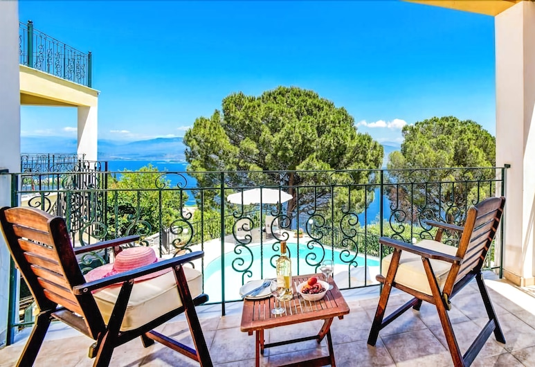 Villa Seascape, Corfu, Villa, 3 Bedrooms, Balkoni