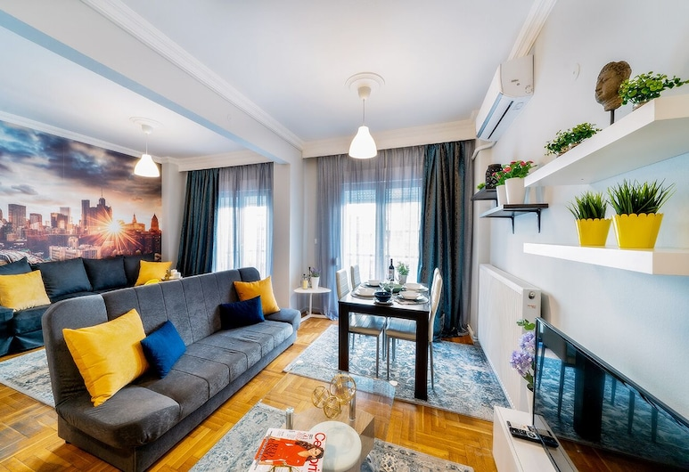 Corona Deluxe Apt (Must), Thessaloniki, Deluxe appartement (Corona), Woonruimte