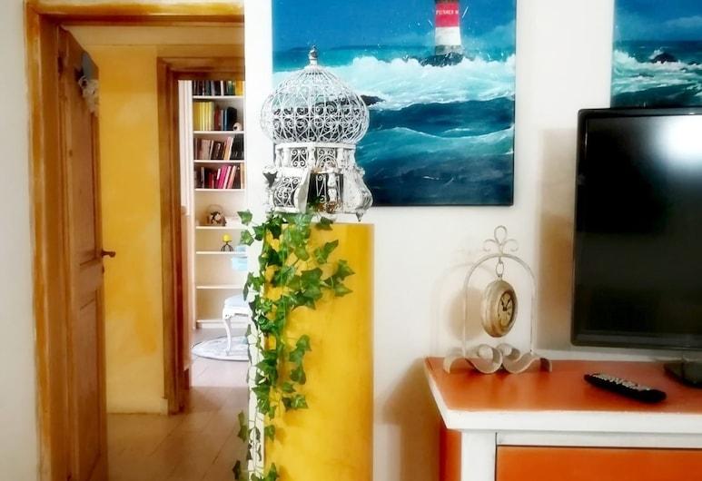 Napoli Da Vivere Suites, Napoli, Duplex – romantic, 4 soverom, utsikt mot byen, Oppholdsområde