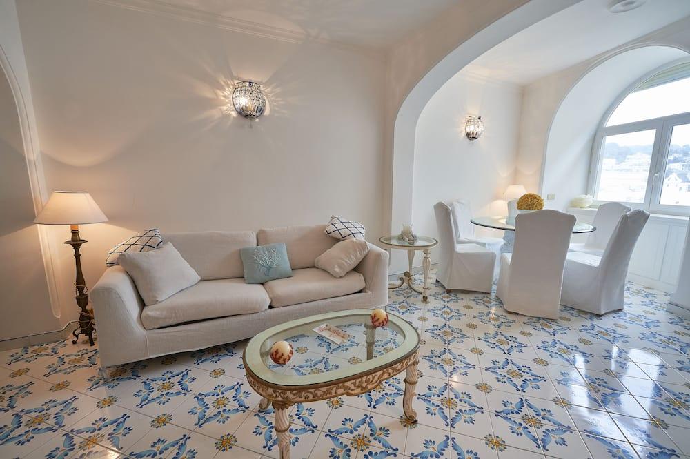 Deluxe-Apartment, 1Queen-Bett und Schlafsofa - Wohnbereich
