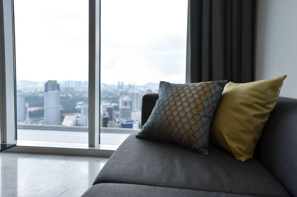 經典公寓, 2 張標準雙人床 - 客廳
