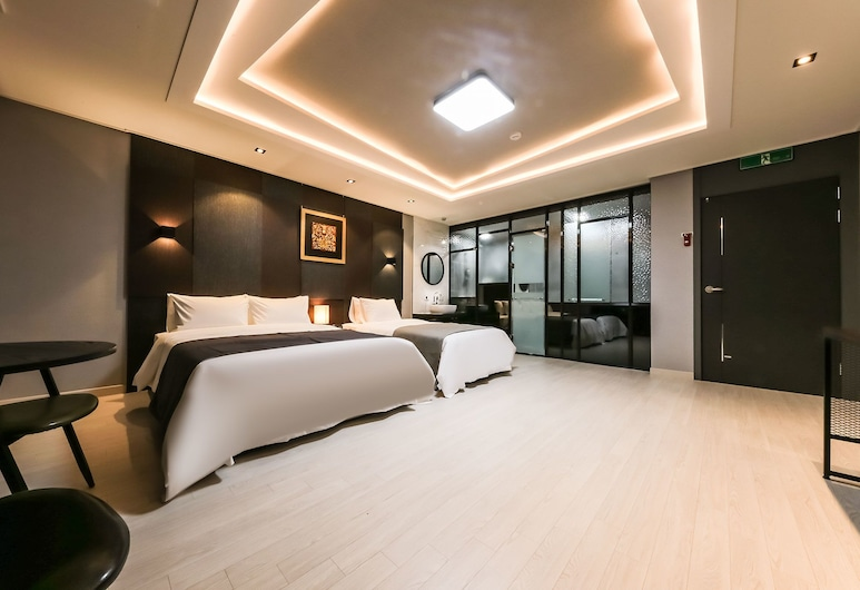Daesan Zaza Hotel, Seosan, Zweibettzimmer, Zimmer