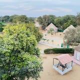 Rekreačná chata typu Deluxe, 1 dvojlôžko, výhľad na záhradu - Obývacie priestory