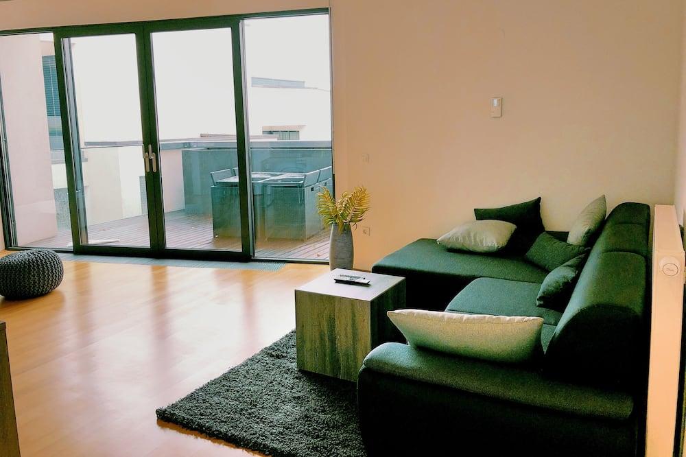 Apartment, Meerblick - Wohnbereich