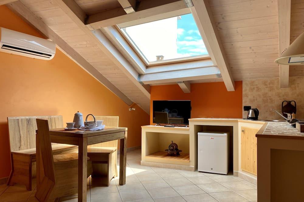 デラックス アパートメント 1 ベッドルーム 簡易キッチン (Il Guscio) - リビング エリア
