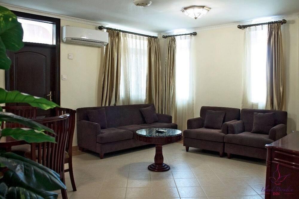 شقة - غرفة نوم واحدة - غرفة معيشة