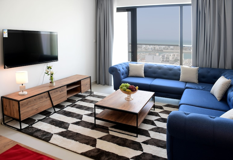 Noor Amwaj, מוחארק, דירה, חדר שינה אחד, נוף לים, סלון
