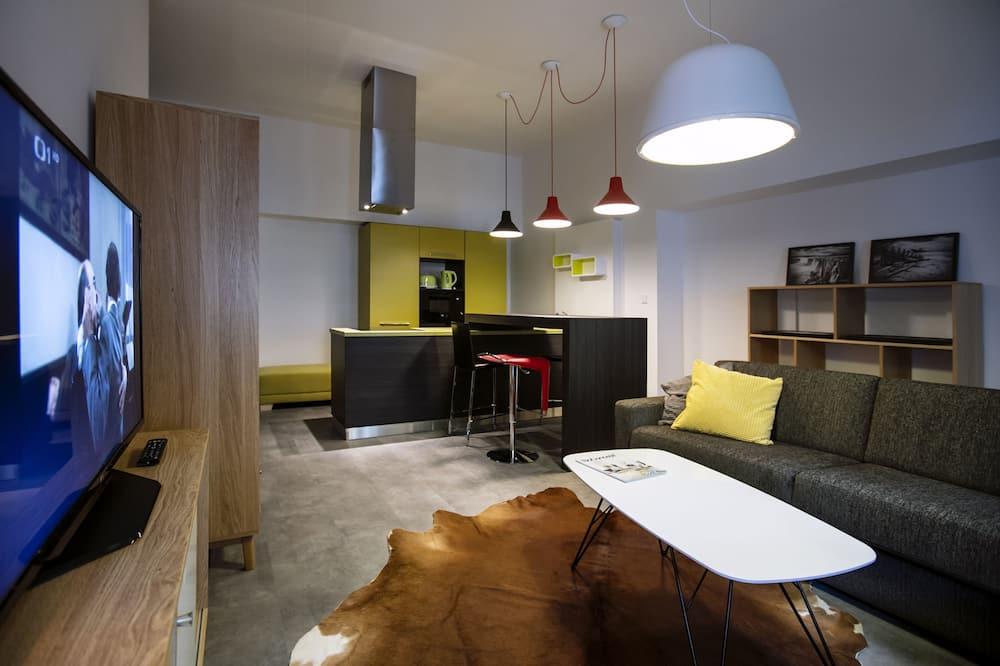 Departamento de diseño, 1 cama King size con sofá cama (3A) - Sala de estar