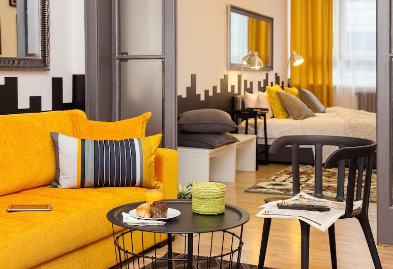 Boutique Apartment Jazz, Belgrad, Apartment, Stadtblick, Wohnbereich